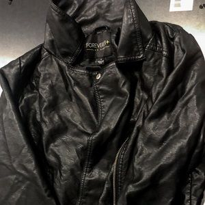 Forever 21 Plus Size leather jacket